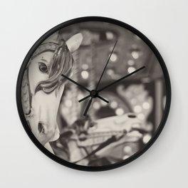 Kid at heart - Black & White Wall Clock