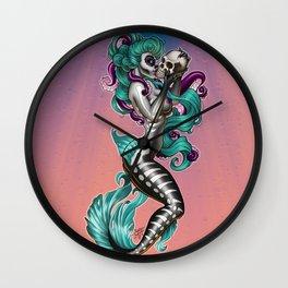 Memento Mori Mermaid Wall Clock