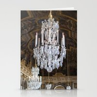 chandelier Stationery Cards featuring Chandelier by Melinda Downing