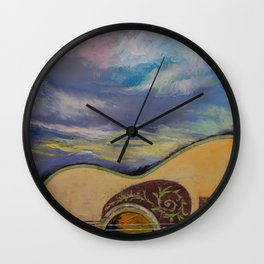 Sunset Guitar Wall Clock
