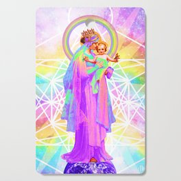 Our Lady of Sacred Geometry Cutting Board