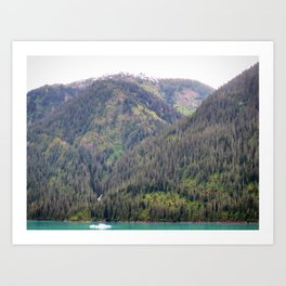 Forest and Mountains Art Print