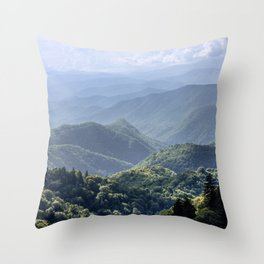 Smoky Mountain Sunsets - Wanderlust Nature Photography Throw Pillow
