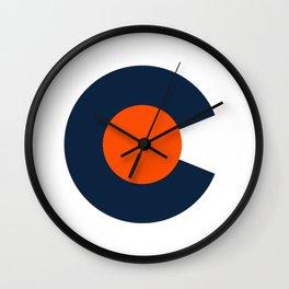 Colorado Logo - Broncos Wall Clock