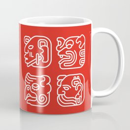 Mayan Glyphs ~ Heads Coffee Mug