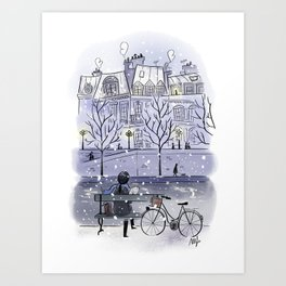 Winter in Paris ❅ Art Print