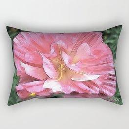 Pale Cistus with Reflection Rectangular Pillow