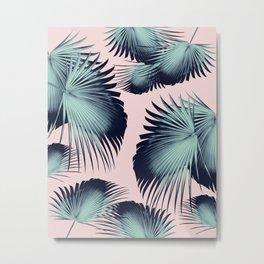 Fan Palm Leaves Paradise #8 #tropical #decor #art #society6 Metal Print