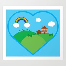 We Love This Place Art Print