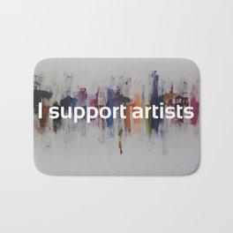 I Support Artists Mug and Notebook Bath Mat