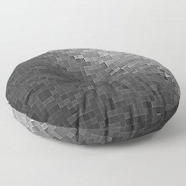 Gray Ombre Pixels Floor Pillow