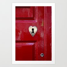 Heart Shaped Lock Art Print