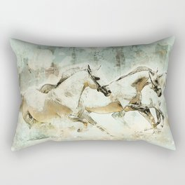 Running horses Rectangular Pillow
