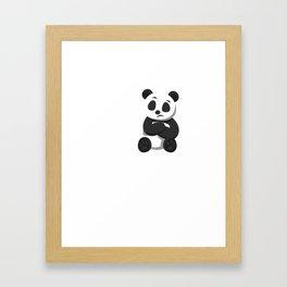People Suck Funny Panda Bear Wildlife Introvert Anti Social Sleepy Lazy Animals Gift Framed Art Print