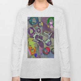 Living In A Purple Dream - Abstract, eclectic, random, purple. lilac, pastel artwork Long Sleeve T-shirt