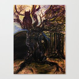 The Owl and Old Gnarly Canvas Print
