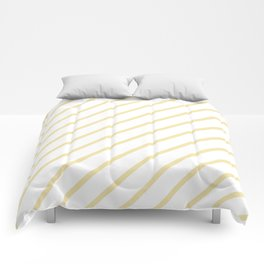 Diagonal Lines (Vanilla/White) Comforters
