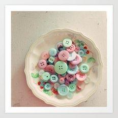 Bowl of Buttons Art Print