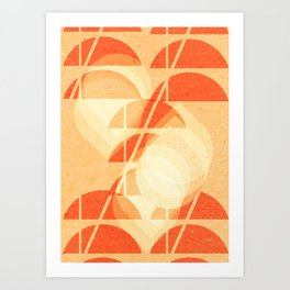 Abstract geometric art Art Print