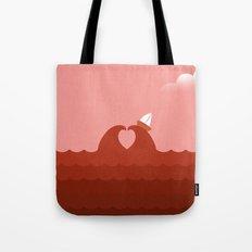 Sailing Through The Sea of Love Tote Bag