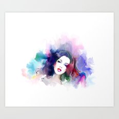 Mixed Girl Art Print