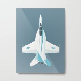F-18 Super Hornet Jet Aircraft - Slate Metal Print