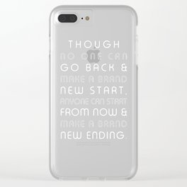 Brand New Ending Clear iPhone Case