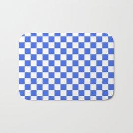 Small Checkered - White and Royal Blue Bath Mat