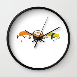 Sushi Gift Design Japanese Sashimi Anime Sushi Squad Print Wall Clock