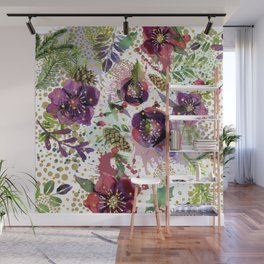 Abstract plants and flowers Wall Mural