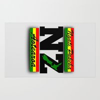 new zealand Area & Throw Rugs featuring New Zealand  by mailboxdisco