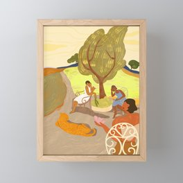 Gossip Session Framed Mini Art Print