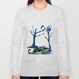 """Wolfdog"" Paulette Lust Original, Contemporary, Whimsical, Colorful Art Long Sleeve T-shirt"
