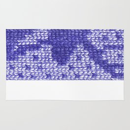 Knitting On Paper Rug