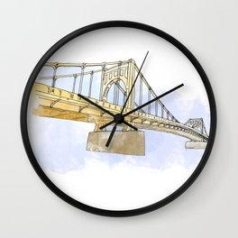Sister Bridge Wall Clock