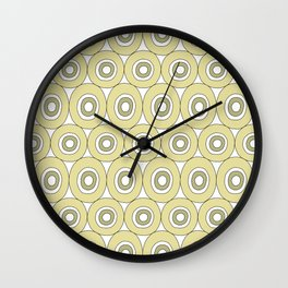 dots in green Wall Clock