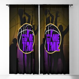 It's Game Time - Purple & Gold Blackout Curtain