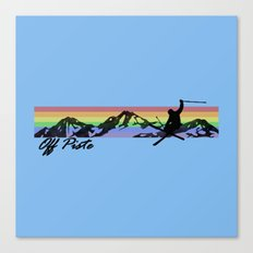 Off Piste Ski Canvas Print