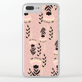 Floral blush Clear iPhone Case
