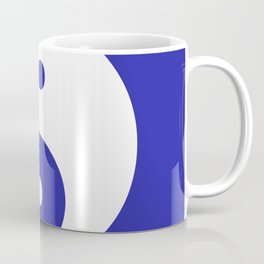 Yin & Yang (White & Navy Blue) Coffee Mug