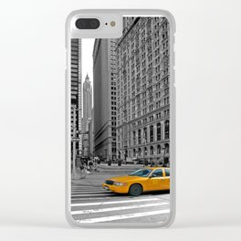 NYC Yellow Cabs Trinity Place - USA Clear iPhone Case