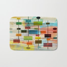 Mid-Century Modern Art 1.3 -  Graffiti Style Bath Mat