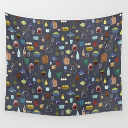 Kitchenware. Pitchers, pots, kettles and so on. Wall Tapestry