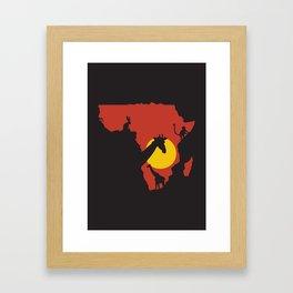 African Savanna. Framed Art Print