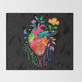 Corazón Mexicano Throw Blanket