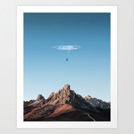 falling into nowhere Art Print