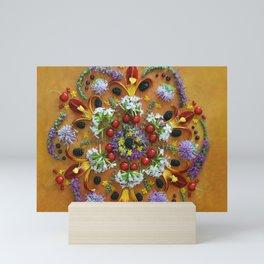 July Nature Mandala II Mini Art Print