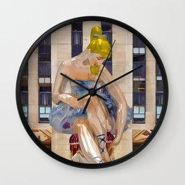 Seated Ballerina at Rockefeller Center 3 Wall Clock