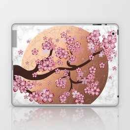 Blooming Sakura Branch on marble Laptop & iPad Skin
