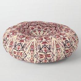 Beige Old Rose Mandala  Psychedelic Pattern Floor Pillow